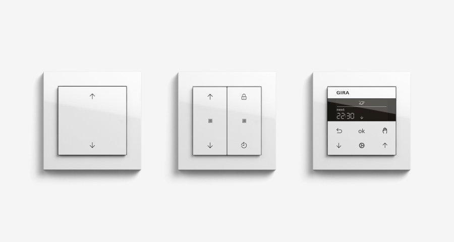 gira system 3000 vereint jalousie und lichtsteuerung modernes domizil. Black Bedroom Furniture Sets. Home Design Ideas